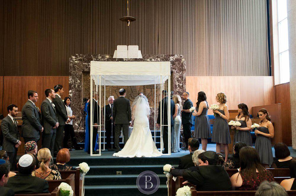 Jewish Wedding Ceremony Synagogue Winnipeg Bride And Groom Standing Hoopa