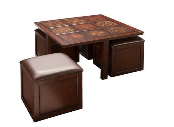 Gillyan Coffee Table W 4 Flip Top Storage Ottomans Tables Raymour And Flanigan Furniture Mattresses