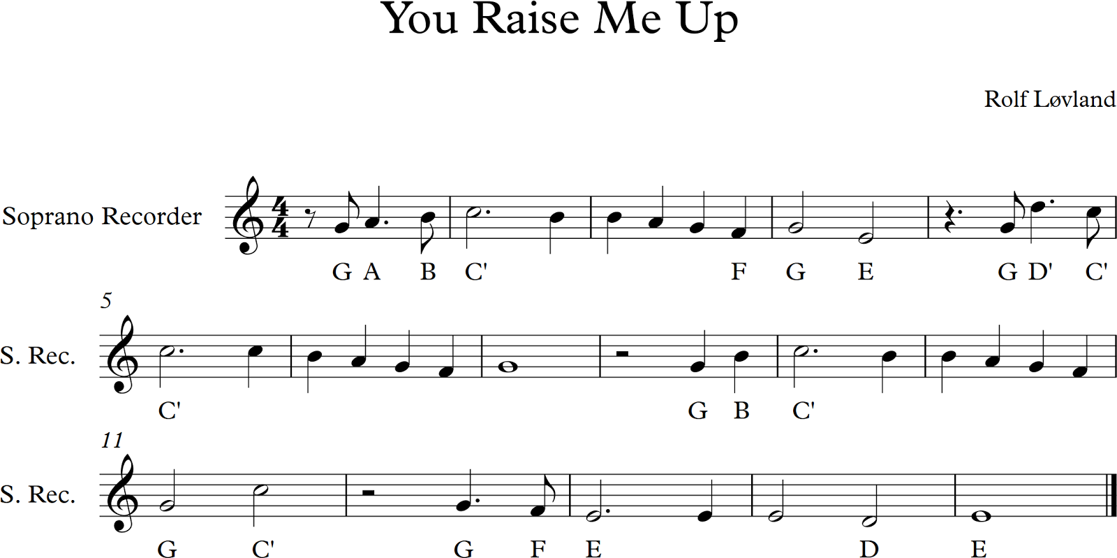 Ptps Music  You Raise Me Up