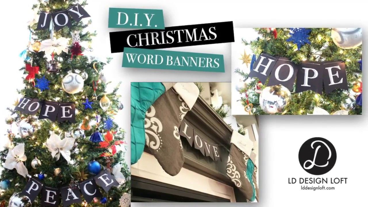 If youre looking for a simple and sophisticated touch for your if youre looking for a simple and sophisticated touch for your christmas dcor this do it yourself video is for you i created these banners for our home solutioingenieria Image collections