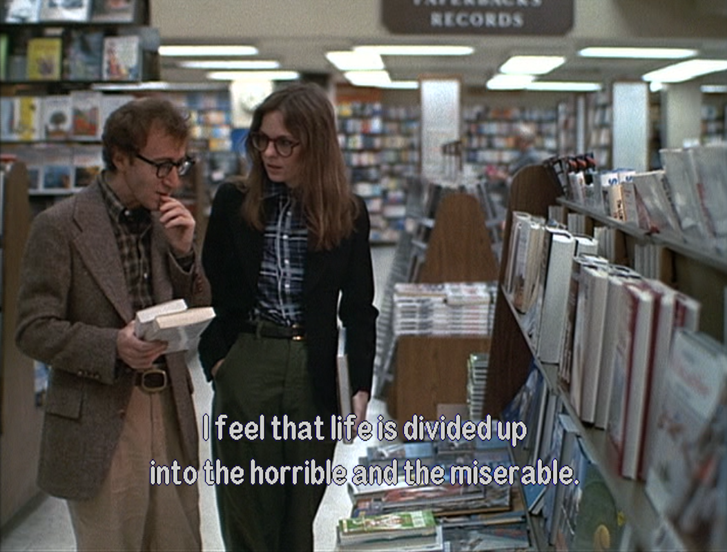 Annie Hall The Horrible And The Miserable Captions Pinterest