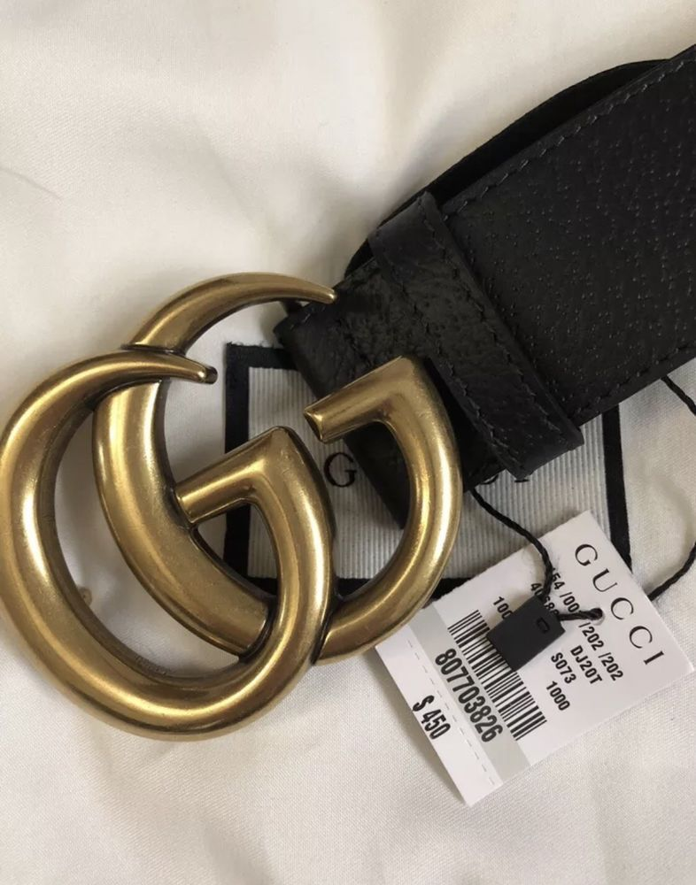 17d9f6194e0 NWT Authentic Gucci Signature belt with G buckle 110cm waist 32-34  fashion