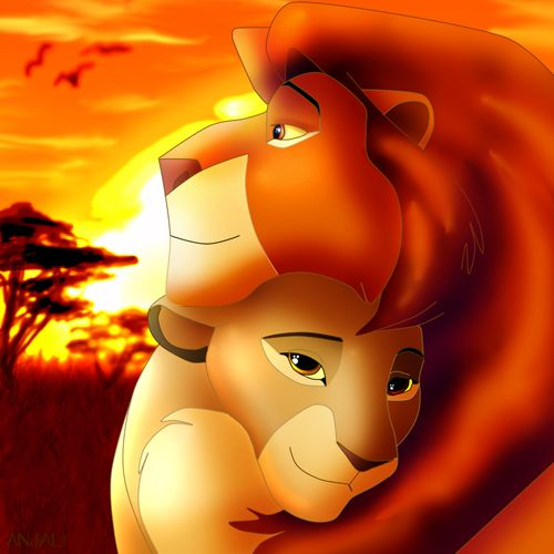 mufasa amp sarabi lion kingmufasa and sarabi are in