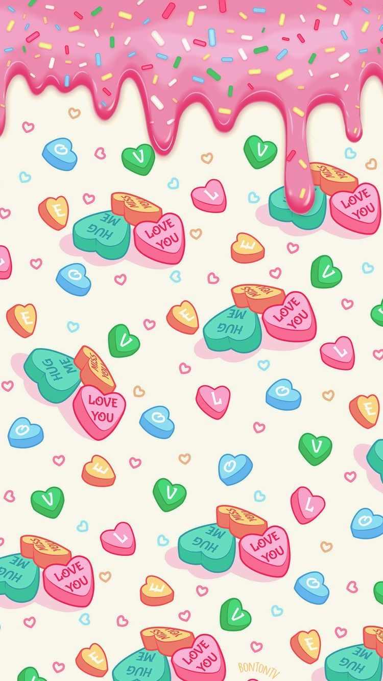 Pink Candy Hearts Valentines Wallpaper Iphone Valentines Day Wallpaper Backgrounds Valentines Wallpaper Valentines Wallpaper Iphone Artsy Wallpaper Iphone