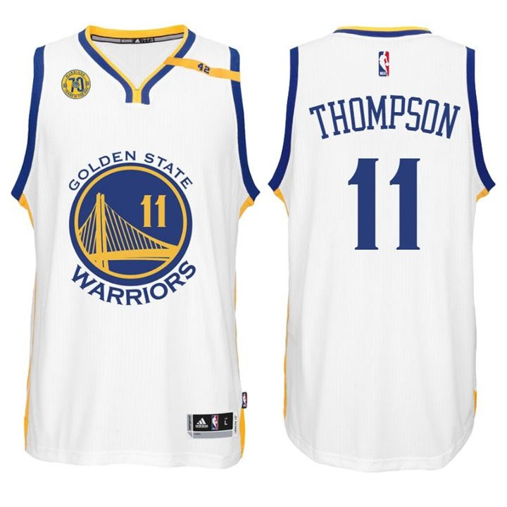 check out 61f7d 250df Warriors #11 Klay Thompson Home White 70th Anniversary 42 ...