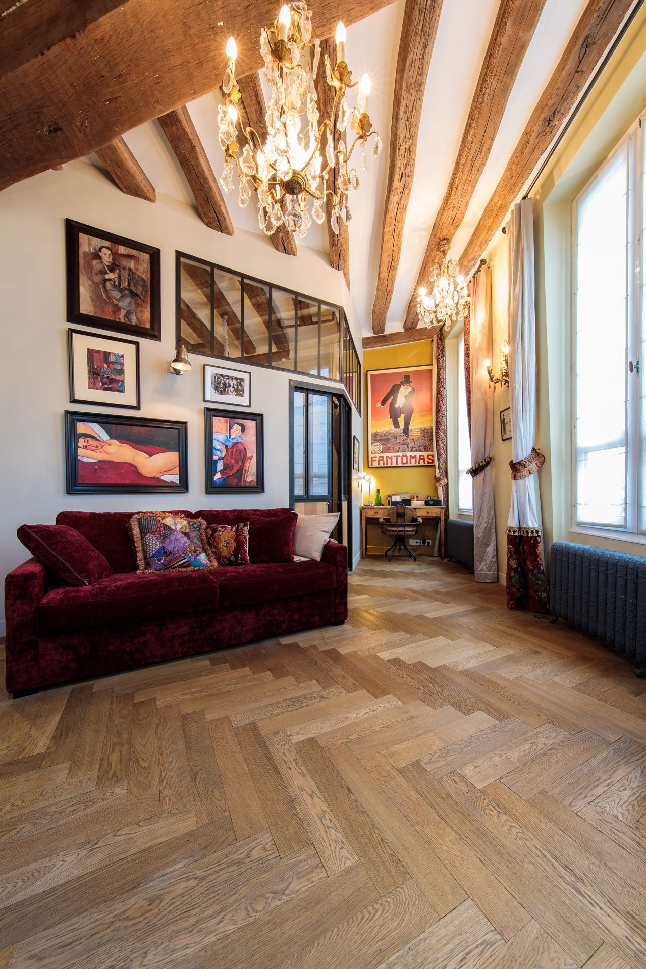 Aniando Parquet A Batons Rompus Chene Massif Vieilli Huile Collection Couleurs Du Te Idee Decoration Salon Pose Parquet Massif Decoration Salon Originale