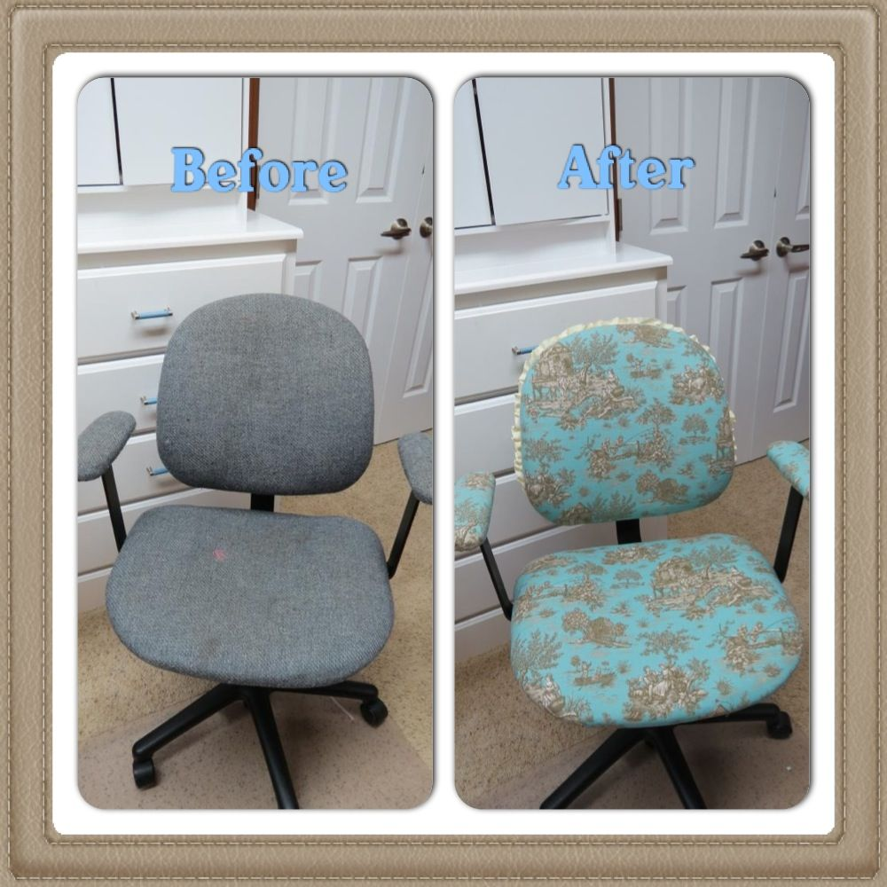 office chair reupholstery. DIY Office Chair Reupholstery! Reupholstery