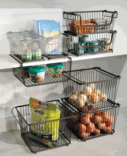 a5a261a23ca7cce419034fdff90aa280 - Better Homes & Gardens Medium Stacking Wire Basket