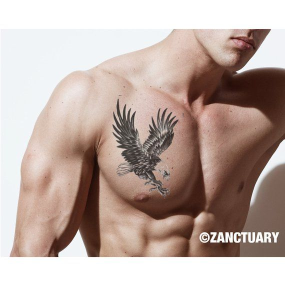 d6bab12b960a1 Do what you LOVE2 what you do with ZANCTUARY's NON-TOXIC, WATERPROOF, and  EASILY APPLIED Eagle Tattoo / Eagle Temporary Tattoo / Chest Tattoo.