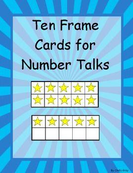 Ten Frame Cards for Number Talks