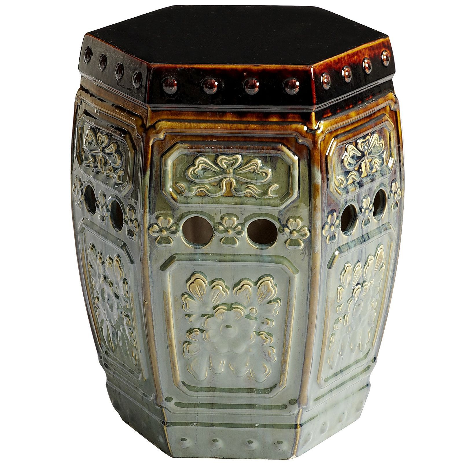 Pleasant Embossed Garden Stool Deck Ceramic Garden Stools Garden Ocoug Best Dining Table And Chair Ideas Images Ocougorg