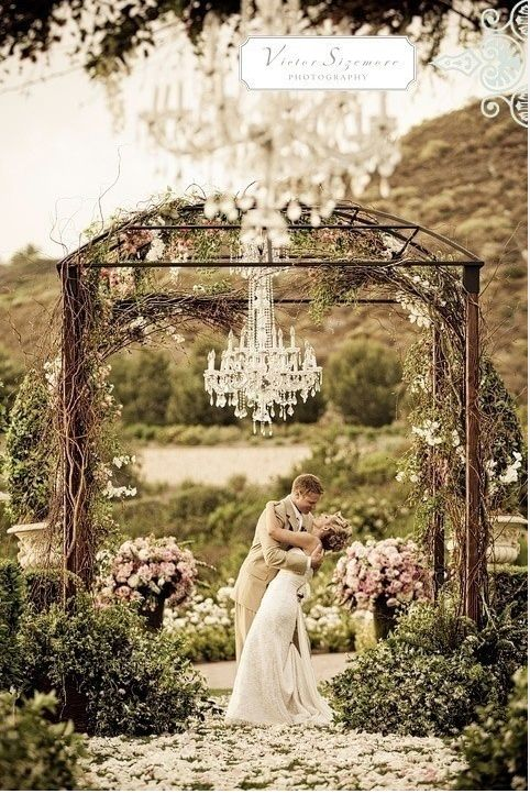 A wisteria wonderland wedding outdoor chandelier chandeliers and a wisteria wonderland wedding aloadofball Choice Image