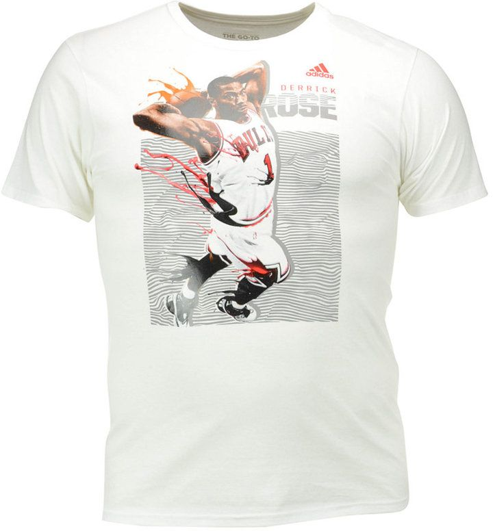 5c922e44 adidas Men's Derrick Rose Chicago Bulls Elevate Player T-Shirt ...