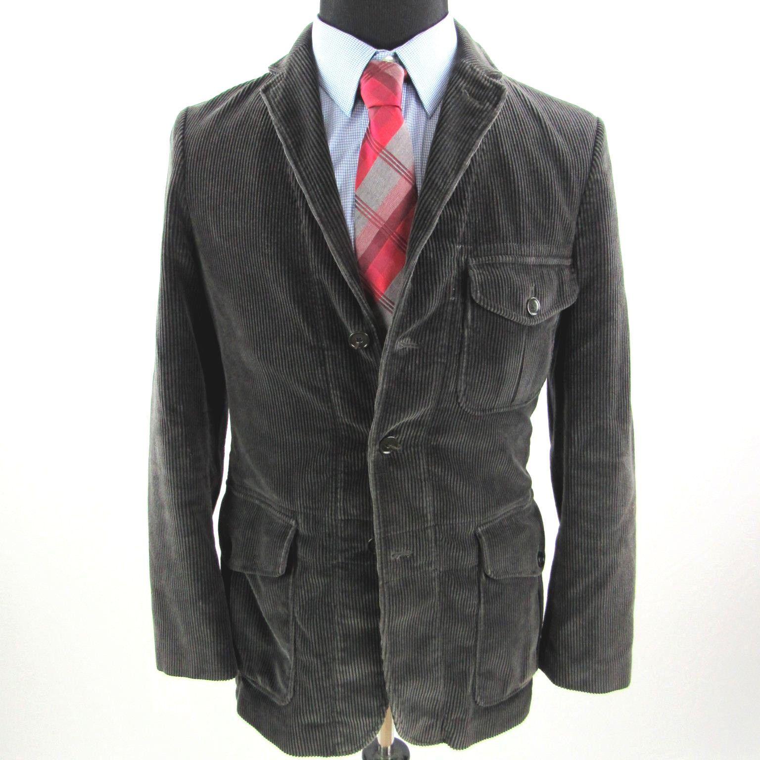 J Crew Ludlow Sport Coat Blazer Mens Small Black Gray