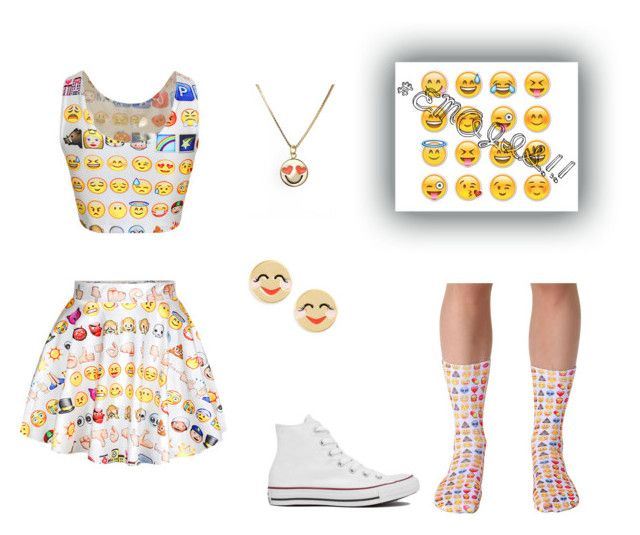 """#EMOJIS!!!"" by kennycat ❤ liked on Polyvore featuring Living Royal, Converse and Kate Spade"