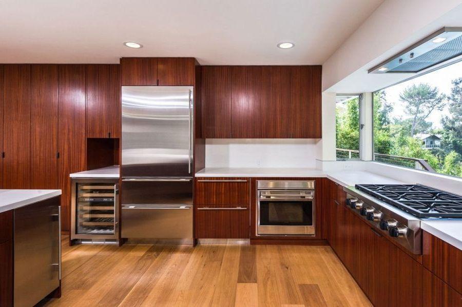 Mid Century Modern Kitchen Cabinet Hardware Oak Wooden Top ...