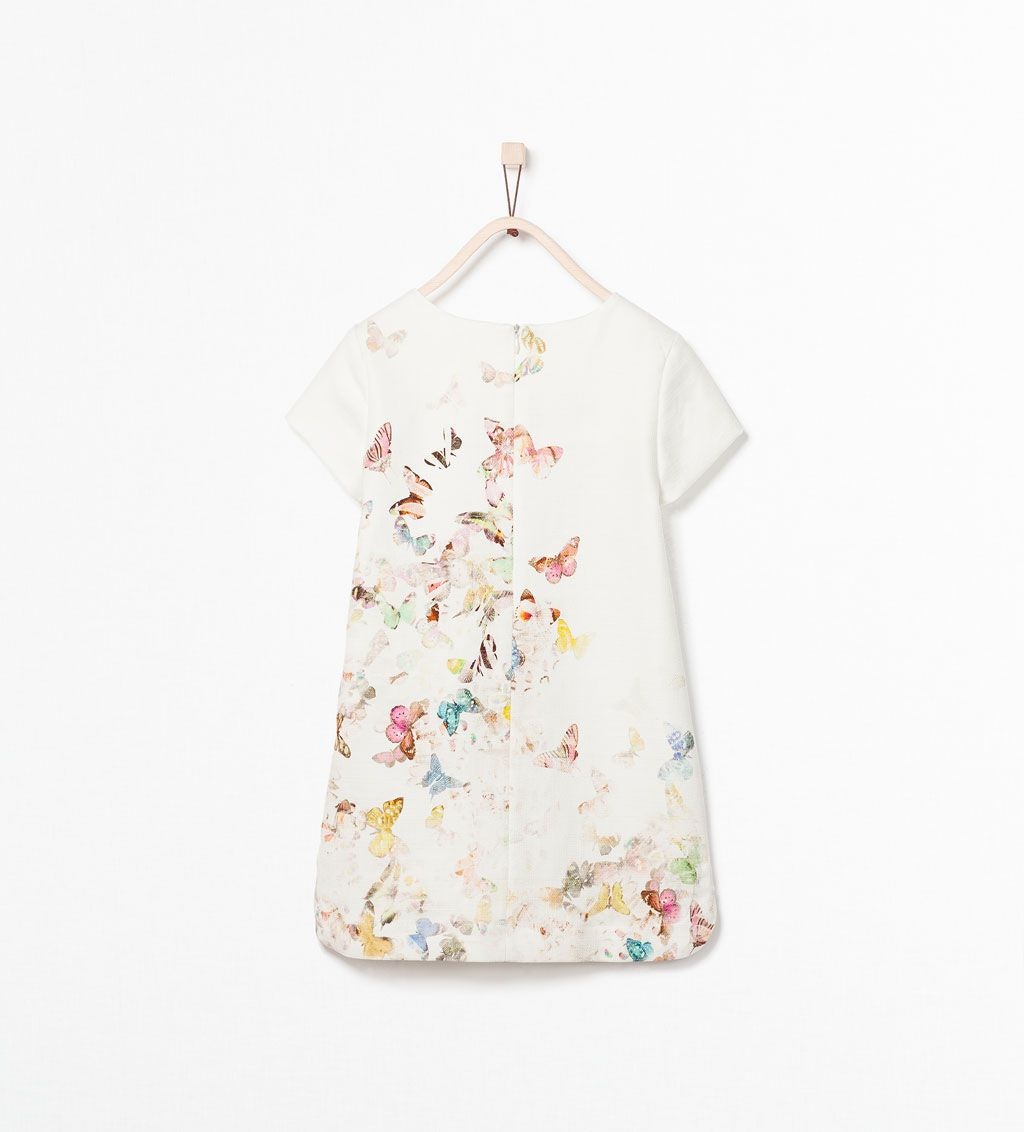 butterfly print dress dresses 3 14 years kids zara united