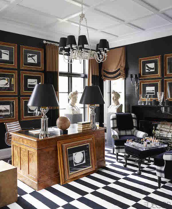 elle decor home office. Black, White \u0026 Camel Office By Megan Winters In ELLE DECOR Photo William Abranowicz Elle Decor Home