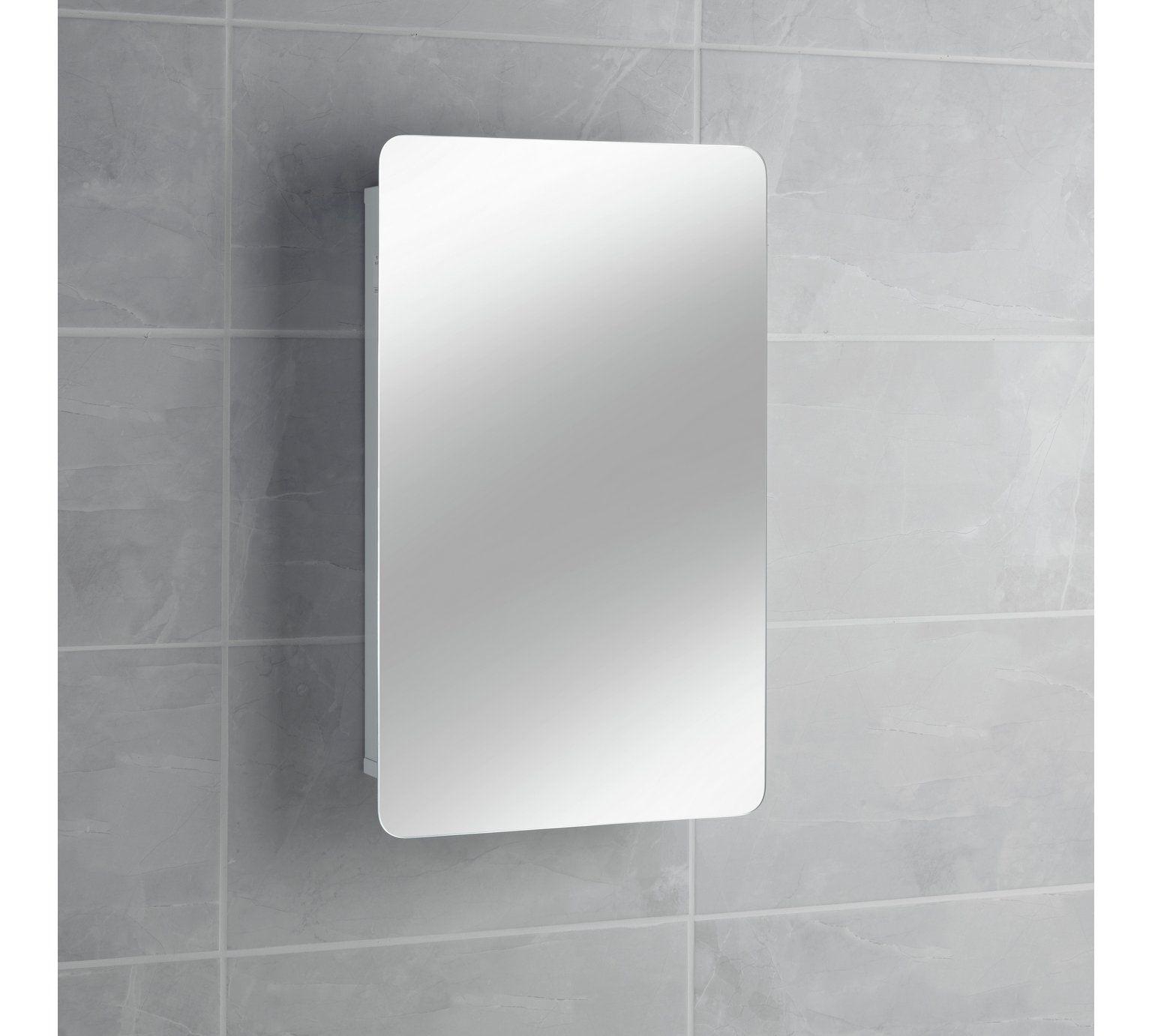 Buy Hygena Sliding Door Mirrored Bathroom Cabinet - White at Argos ...