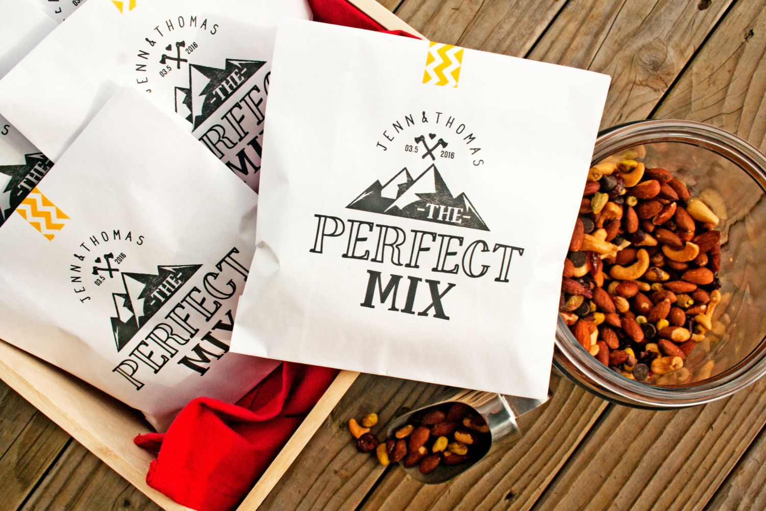 trail mix favor - Google Search | Wedding Favors/Welcome Bags ...