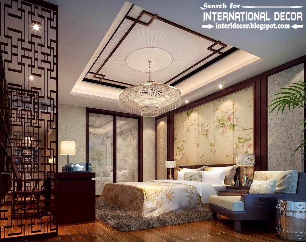 Master bedroom bedroom ceiling decor  plasterboard ceiling false ceiling designs for bedroom ceiling led