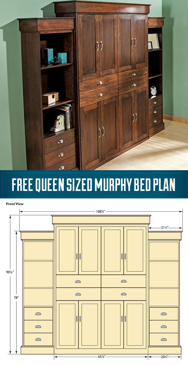 free u bed cont murphy squares kit states products next product kits diy shipping s with