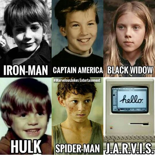 Lol black widow and Spider-Man look the same as now