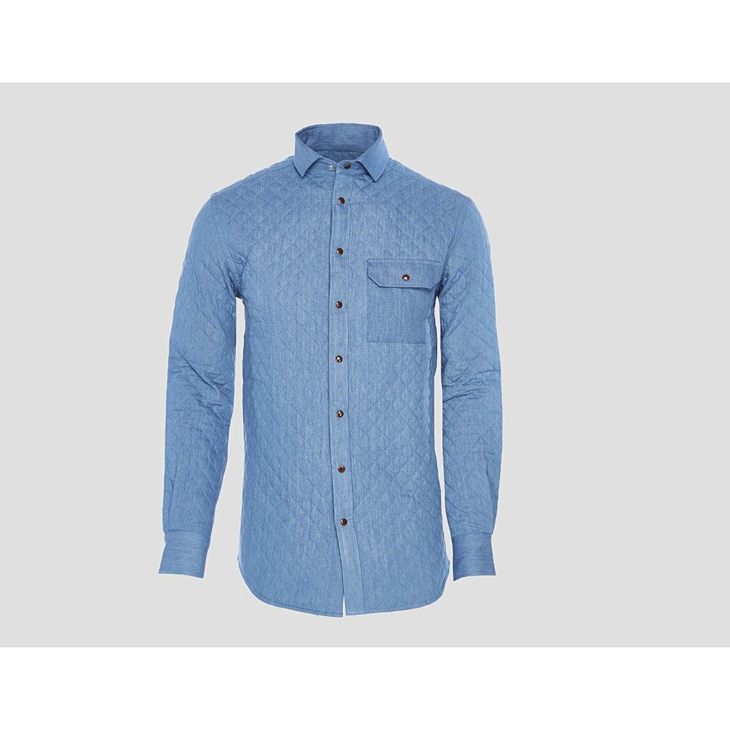 BUBBI Arctic blue quilted denim shirt  Trendarty.com follow us on: https://www.facebook.com/trendarty/?ref=hl https://twitter.com/trendarty5 https://es.pinterest.com/trendarty/ and https://vimeo.com/trendarty