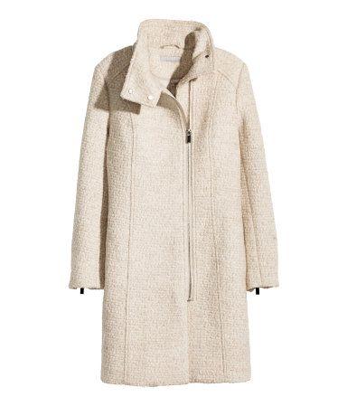 H M Wool Blend Boucle Coat 119 Coat Women Fashion Clothes Wool Coat Women