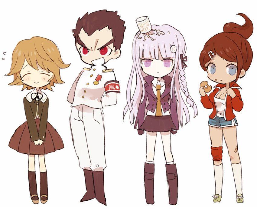 Chihiro, Ishimaru, Kirigiri, and Asahina