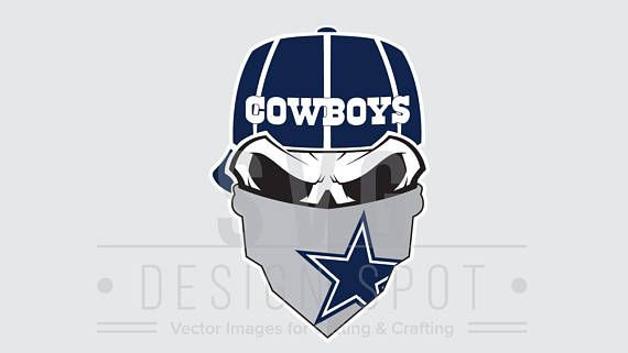 Dallas Cowboys Skull SVG File Dallas Cowboys Skull SVG Wall  2e45b66ec