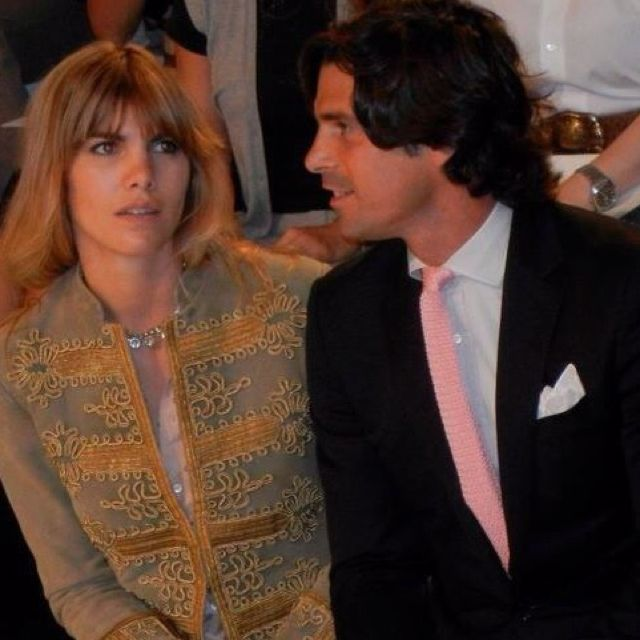 Nacho and his wife at the RL spring fashion show. I adore the jacket she wore from blue label.