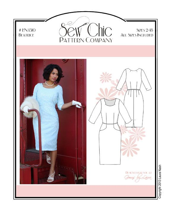 Sew Chic Beatrice Dress Pattern - Vintage Inspired Dress Sewing ...