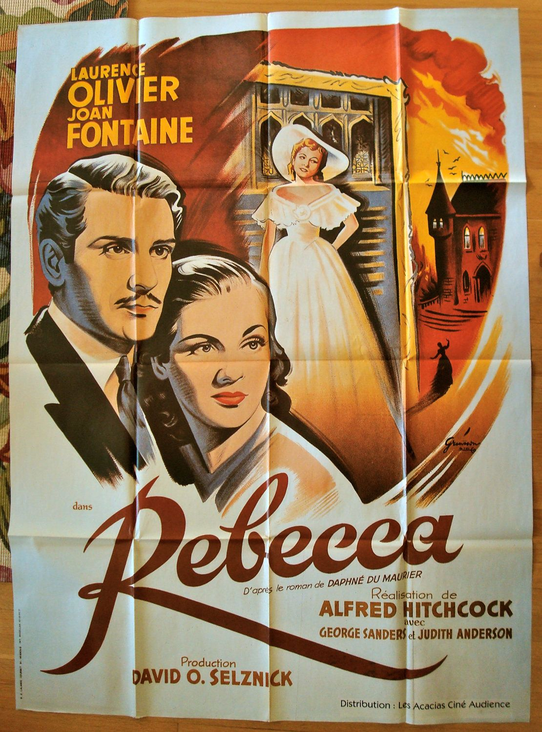 French Movie Posters Rebecca Vintage French Movie Poster By Meansheetspostershop Movie Posters Vintage Old Movie Posters Vintage Movies
