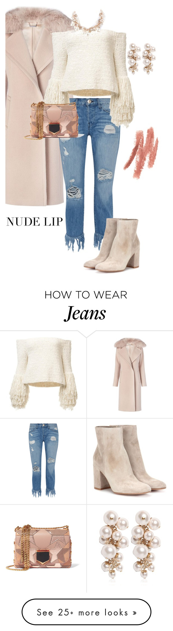 """""""Ripped Jeans"""" by sara12alexandra on Polyvore featuring Diane Von Furstenberg, 3x1, Gianvito Rossi, Jimmy Choo and Lanvin"""