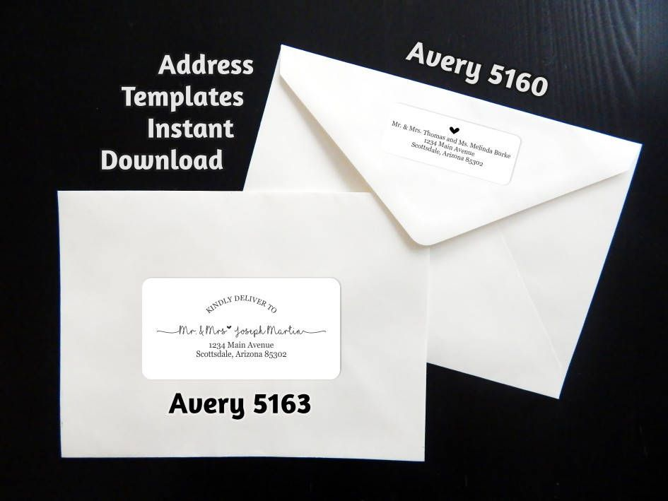 avery address labels wedding invitations%0A Printable Address Template for Envelope Labels  Avery       u           Rustic  Handwriting Heart  Instant Download Digital File Editable PDF