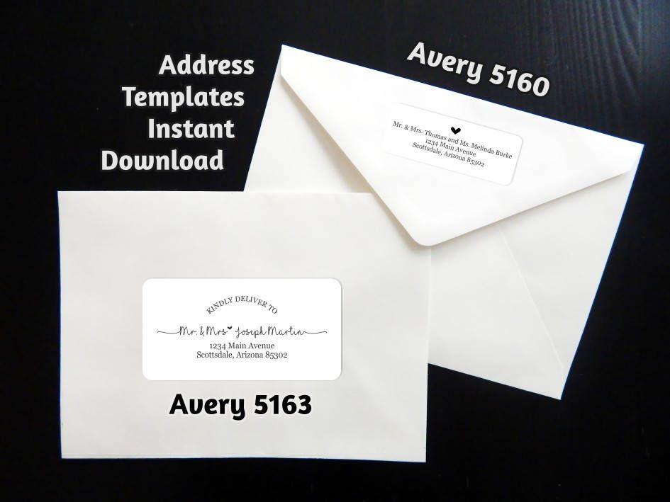 handwrite or print wedding invitation envelopes%0A Printable Address Template for Envelope Labels  Avery       u           Rustic  Handwriting Heart  Instant Download Digital File Editable PDF