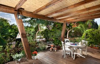 How Could You Make The Bamboo Roofing Waterproof Tropical Patio Patio Design Bamboo Roof