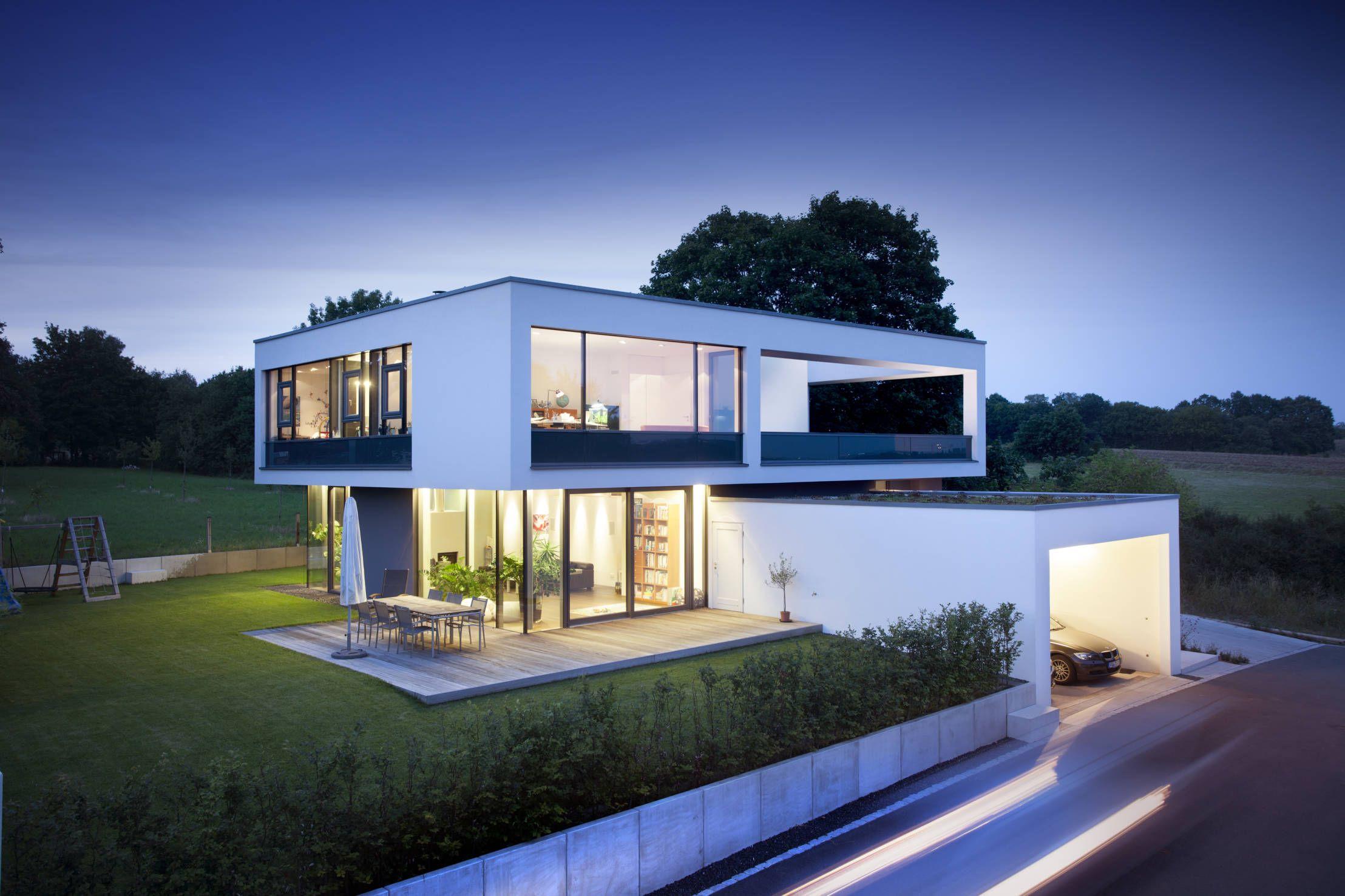 Intelligent und stylish: Ökohaus mit Klasse | Flachdach, Moderne ...