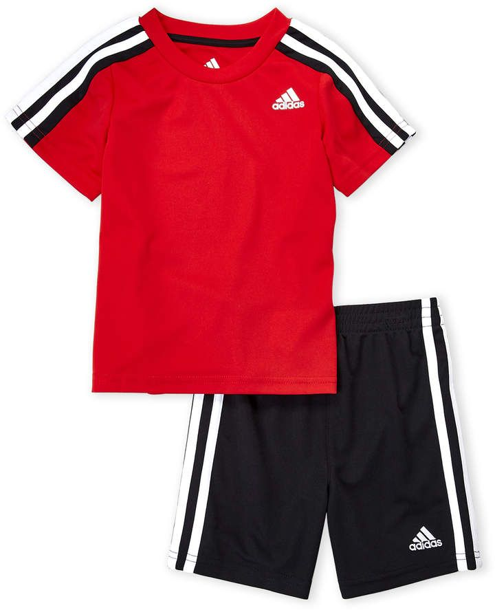 5d998d8f8 Toddler Boys) Two-Piece Soccer Tee & Shorts Set | Kids boys fashion ...