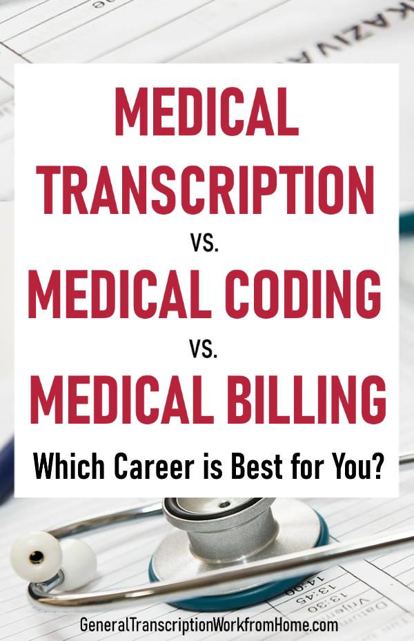 Medical Transcription Vs Medical Coding Vs Medical Billing Work From Home Jobs Online Jobs Side Hustles Medical Transcription Editor Medical Transcription Medical Transcription Jobs Medical Coding Jobs