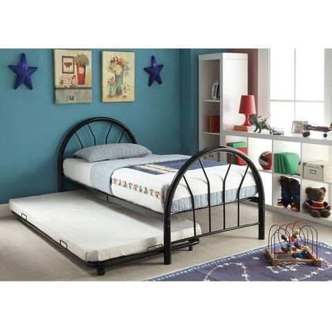 Best Acme Furniture Trundle Beds Black Silhouette Metal Twin 400 x 300
