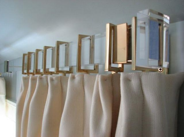 Square Lucite Rods And Coordinating Square Curtain Rings Modern
