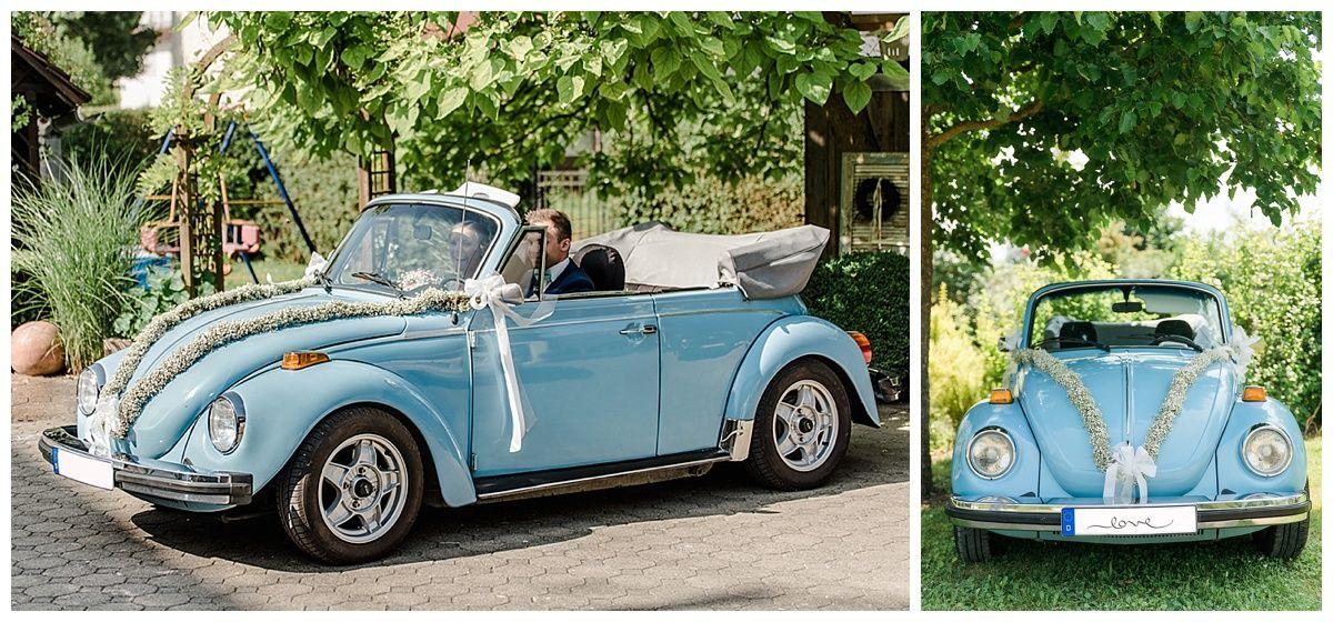 Sommerhochzeit In Ulm Von Brigitte Foysi Isabel Und Maxi Hochzeitsauto Hochzeit Auto Blumenschmuck Auto