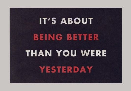 Delicieux Being Positive Quotes | ... About Being Better Than You Were Yesterday |  Daily