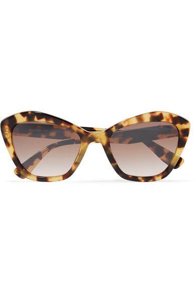 7b4e4695ef16e Miu Miu - Cat-eye Tortoiseshell Acetate Sunglasses in 2019 ...