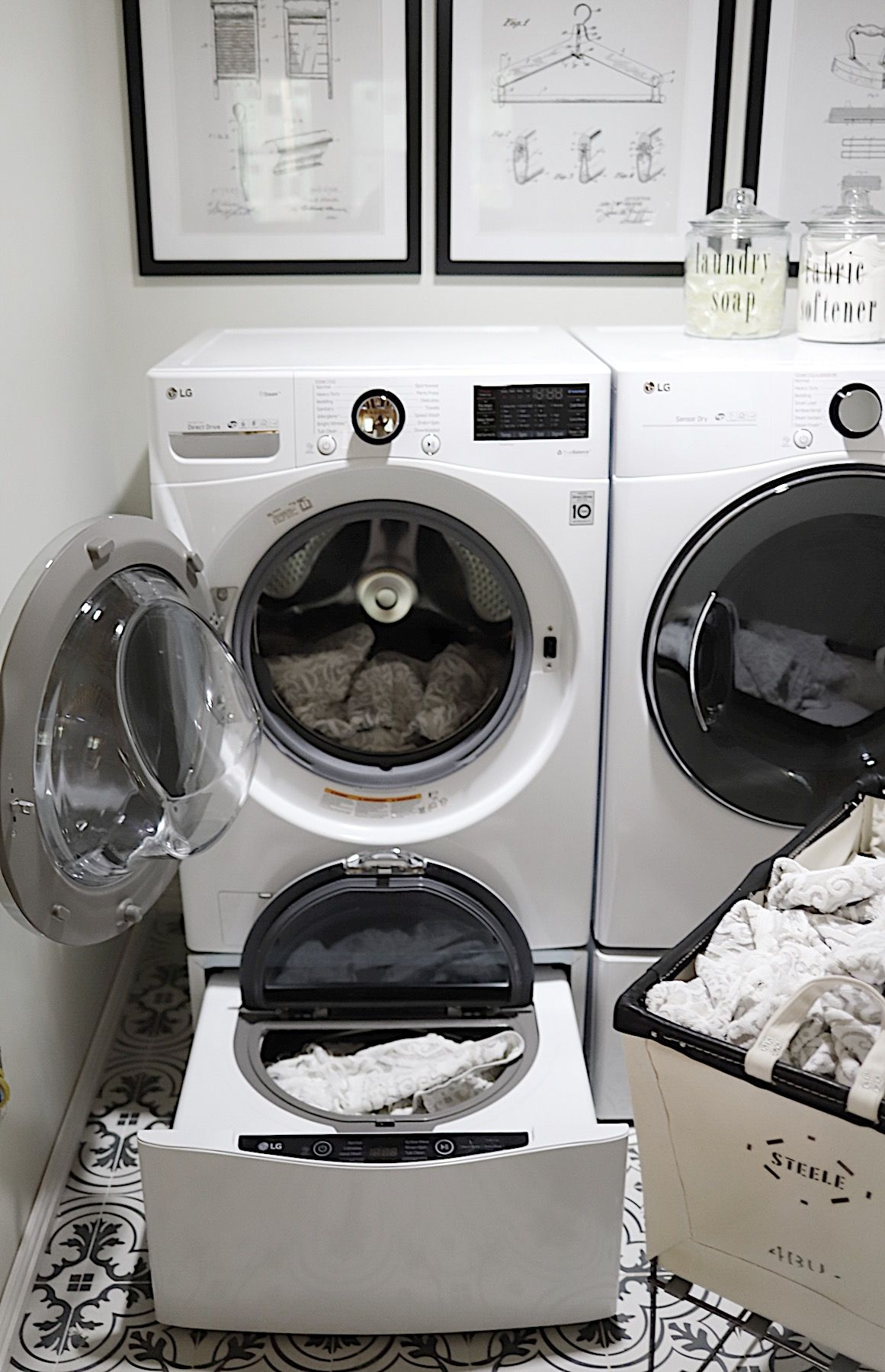 How A Washer And Dryer Can Simplify Your Life My 100 Year Old Home Lg Washer And Dryer Washer And Dryer Laundry Room Storage