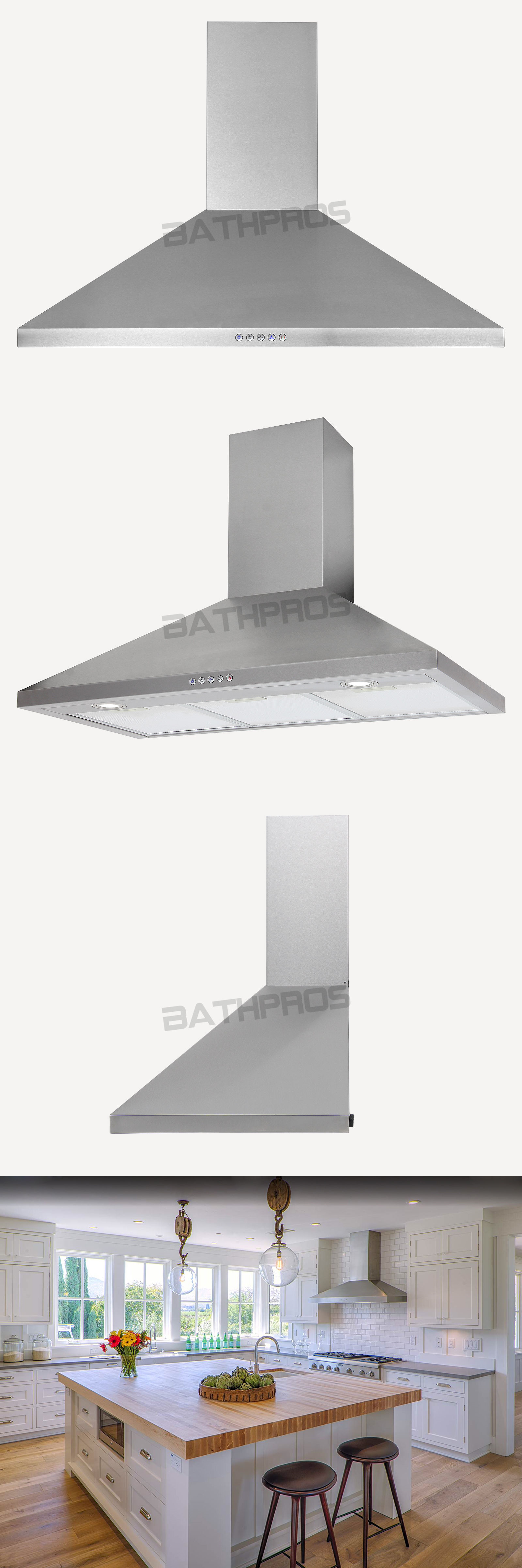 Range Hoods 71253: Limited Electronic Switch Stainless Steel 36 ...