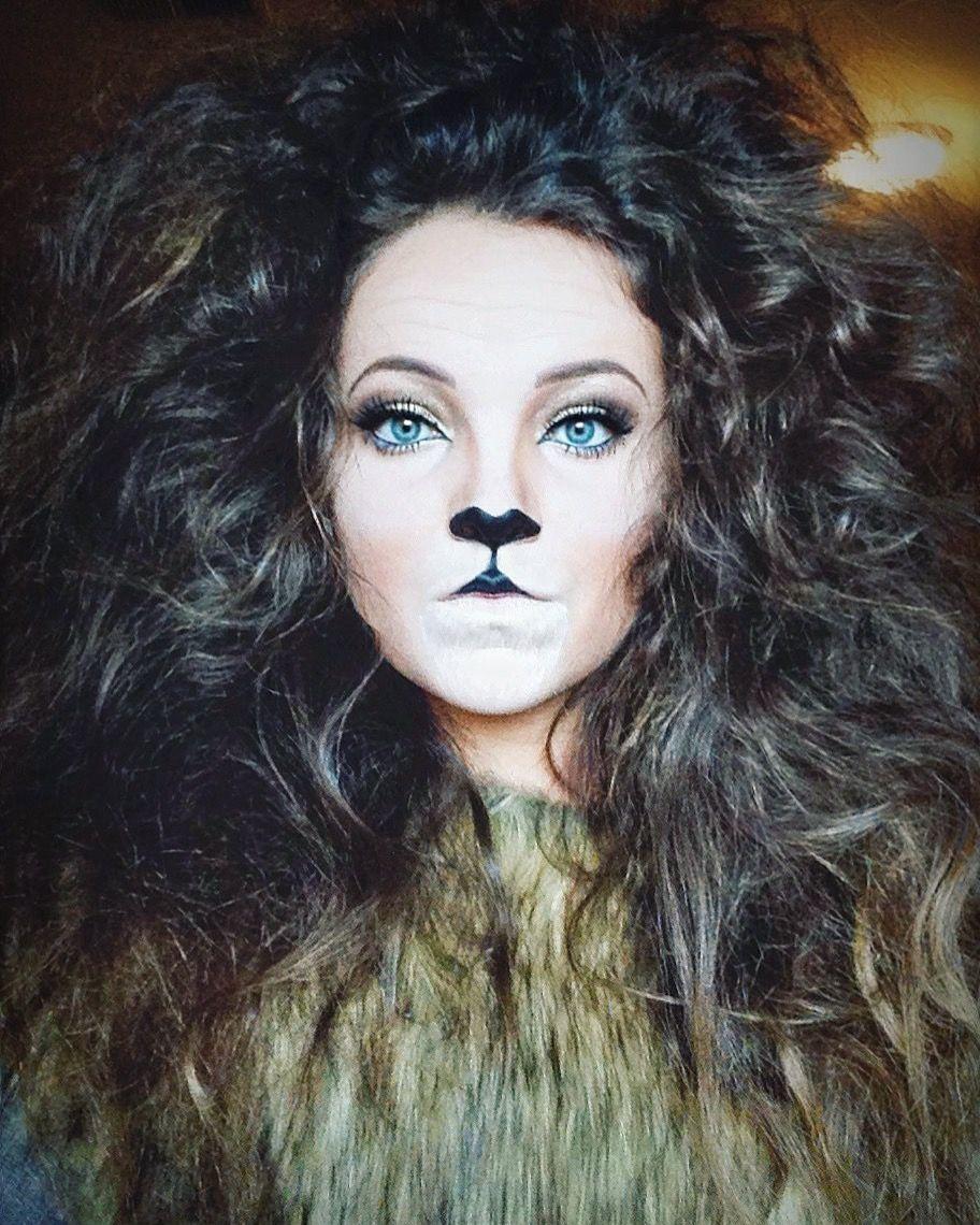 Lion Halloween costume makeup