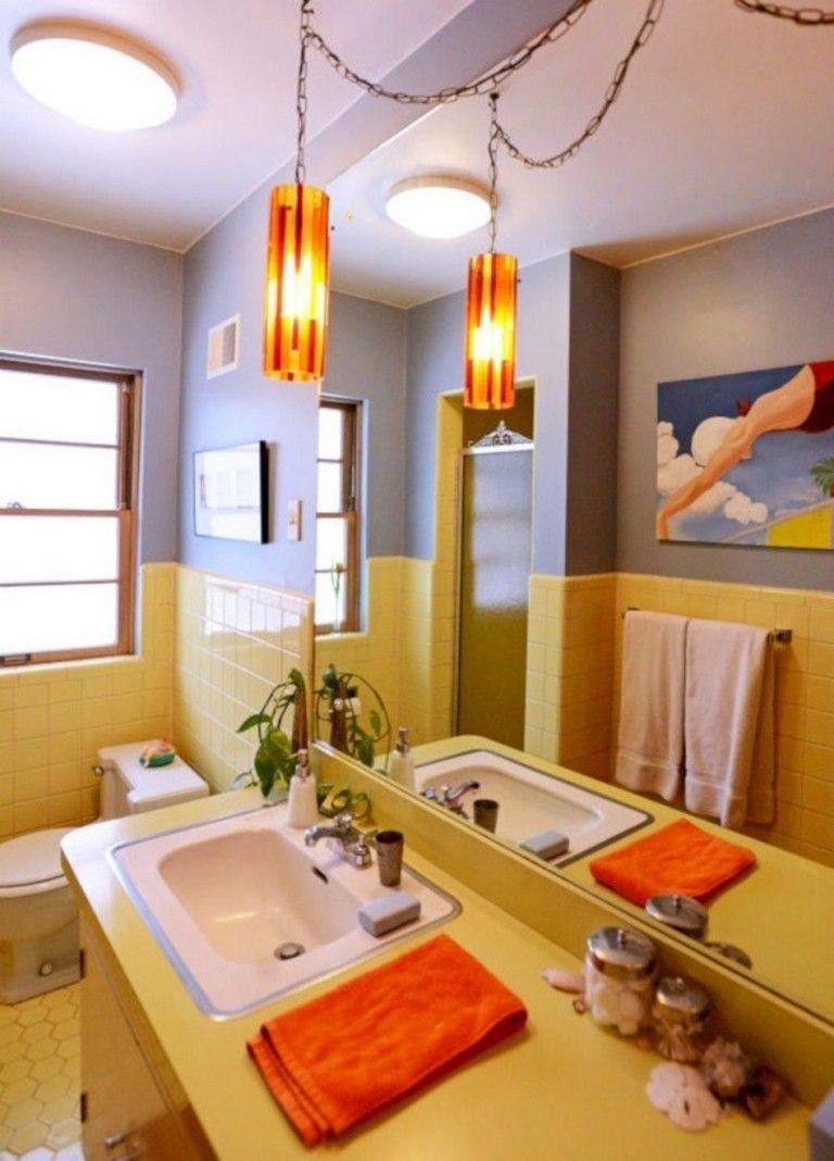 45 amazing yellow tile bathroom paint colors ideas